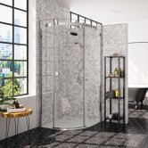 Merlyn 10 Series Single Quadrant Shower Enclosure 900mm x 900mm Left Handed - Clear Glass
