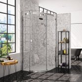 Merlyn 10 Series Single Quadrant Shower Enclosure 800mm x 800mm Left Handed - Clear Glass