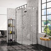 Merlyn 10 Series Single Quadrant Shower Enclosure 900mm x 900mm Right Handed - Clear Glass