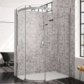 Merlyn 10 Series Single Offset Quadrant Shower Enclosure 1000mm x 800mm LH - Clear Glass
