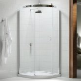 Merlyn 10 Series Single Quadrant Shower Enclosure with Tray 900mm x 900mm Left Handed - Clear Glass