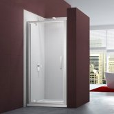 Merlyn 6 Series Pivot Shower Door 700mm Wide - Clear Glass