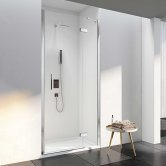 Merlyn 6 Series Frameless Inline Hinged Shower Door 760mm Wide - 6mm Glass