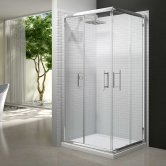 Merlyn 6 Series Corner Entry Shower Enclosure 800mm Wide - Clear Glass