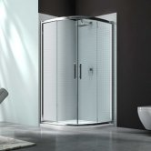 Merlyn 6 Series Quadrant Shower Enclosure with Tray 1000mm x 1000mm - Clear Glass