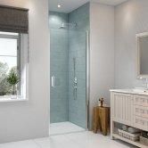 Merlyn 8 Series Frameless Pivot Shower Door 750mm to 800mm Wide - 8mm Glass