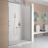 Merlyn 8 Series Frameless Sliding Shower Door 1200mm Wide - 8mm Glass