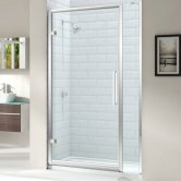 Merlyn 8 Series Hinged Shower Door 1000mm Wide and 210mm Inline - 8mm Glass
