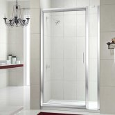 Merlyn 8 Series Inline Infold Shower Door, 800mm Wide, 8mm Glass
