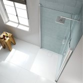Merlyn 8 Series Double Pivot Shower Door 760mm x 760mm - 8mm Glass