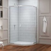 Merlyn 8 Series Offset Quadrant Shower Enclosure 1400mm x 800mm - 8mm Glass