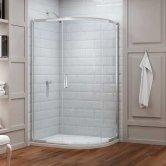 Merlyn 8 Series Offset Quadrant Shower Enclosure 1200mm x 800mm - Clear Glass