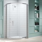 Merlyn 8 Series Single Quadrant Shower Enclosure with Tray 900mm x 900mm - Clear Glass