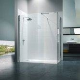 Merlyn 8 Series Walk-In Enclosure with End Panel 1700mm x 800mm - 8mm Glass