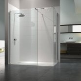 Merlyn 8 Series Walk-In Enclosure with End Panel, 1200mm x 800mm, Clear Glass