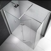 Merlyn 8 Series Hinged Walk-In Shower Enclosure with Tray, 1400mm x 800mm, 8mm Glass
