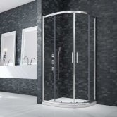Merlyn Ionic Essence Framed Double Quadrant Shower Enclosure 900mm x 900mm - 8mm Glass