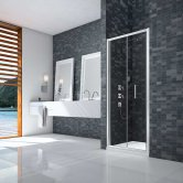 Merlyn Ionic Essence Framed Bi-Fold Shower Door 800mm Wide - 8mm Glass