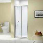 Merlyn Ionic Source Bi-Fold Shower Door 760mm Wide - 4mm Glass