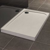 Merlyn Ionic Touchstone Rectangular Shower Tray, 900mm x 760mm, 4 Upstand