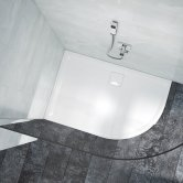 Merlyn Level25 Quadrant Shower Tray with Waste 900mm x 900mm - White