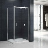 Merlyn Mbox Pivot Shower Door 1000mm - 6mm Clear Glass