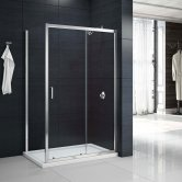 Merlyn Mbox Sliding Shower Door 1400mm Wide - 6mm Clear Glass