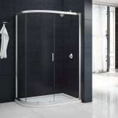 Merlyn Mbox Single Offset Quadrant Shower Enclosure 1000mm x 800mm - 6mm Glass
