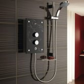 Mira Galena Thermostatic Electric Shower with Kit and Showerhead, 9.8kW, Slate Effect