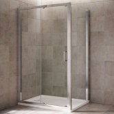 Mira Leap Sliding Shower Door, 1000mm Wide, 6mm Glass