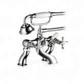 Mira Virtue Bath Shower Mixer Tap, Deck Mounted, Chrome