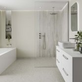 Multipanel Neutrals Unlipped Wall Panel 2400mm H x 598mm W - Creamy White