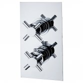 Niagara Carter Cross Twin Thermostatic Concealed Shower Valve - Chrome