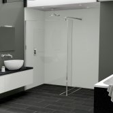 Nuance Finishing Postformed Wall Panel 2420mm H X 160mm W Arctic - Gloss