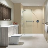Nuance Finishing Postformed Wall Panel 2420mm H X 160mm W Classic Travertine - Riven