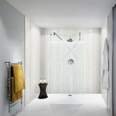 Nuance Finishing Postformed Wall Panel 2420mm H X 160mm W Platinum Travertine - Riven