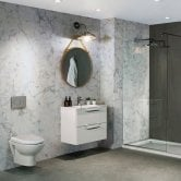 Nuance Finishing Postformed Wall Panel 2420mm H X 160mm W Turin Marble - Ultramatt