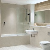 Nuance Finishing Postformed Wall Panel 2420mm H X 160mm W Alabaster - Quarry