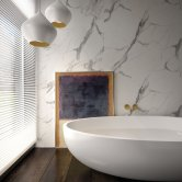 Nuance Finishing Postformed Wall Panel 2420mm H X 160mm W Calacatta Statuario - Glaze