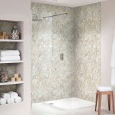 Nuance Finishing Postformed Wall Panel 2420mm H X 160mm W Soft Mazzarino - Quarry