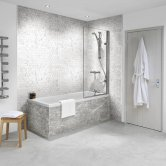 Nuance Finishing Postformed Wall Panel 2420mm H X 160mm W White Lightning Fossil - Roccia