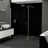 Nuance Finishing Postformed Wall Panel 2420mm H X 160mm W Black Quartz - Gloss