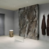 Nuance Finishing Postformed Wall Panel 2420mm H X 160mm W Grey Paladina - Glaze