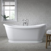 Nuie Alice Freestanding Roll Top Slipper Bath 1740mm x 800mm