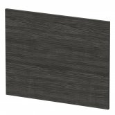 Nuie Athena Square Shower Bath End Panel 520mm H x 680mm W - Hacienda Black