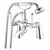 Nuie Bloomsbury Bath Shower Mixer Tap Pillar Mounted - Chrome