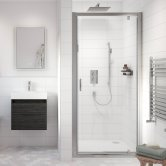Nuie Ella Bathroom En-Suite with Pivot Shower Door - 700mm Wide