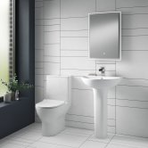 Nuie Freya Bathroom Suite Close Coupled Toilet and Basin 560mm 1 Tap Hole
