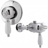 Nuie Nostalgic Manual Concealed and Exposed Shower Valve Single Handle - Chrome