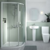 Nuie Pacific Bathroom En-Suite with Quadrant Shower Enclosure - 800mm x 800mm